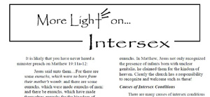 More Light on Intersex