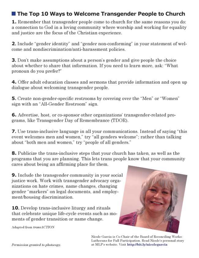 Top 10 Transgender